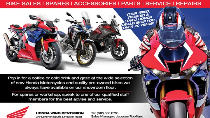 Honda Wing Centurion dealership visit